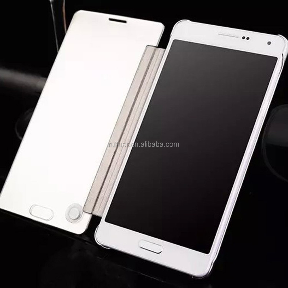 2016 New Arrive Luxury Plating Touch Sensitive Clear View Smart Flip Mirror Case for Samsung Galaxy A7 A7000