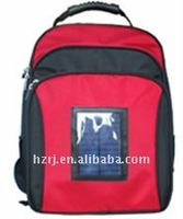 ce certification solar backpack available forcamara,mobile phone, ipod,mp3
