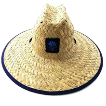 Natural Color Summer Straw Hat with Flower