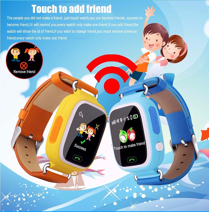 OEM factory GPS GPS WIFI LBS children track smart watch