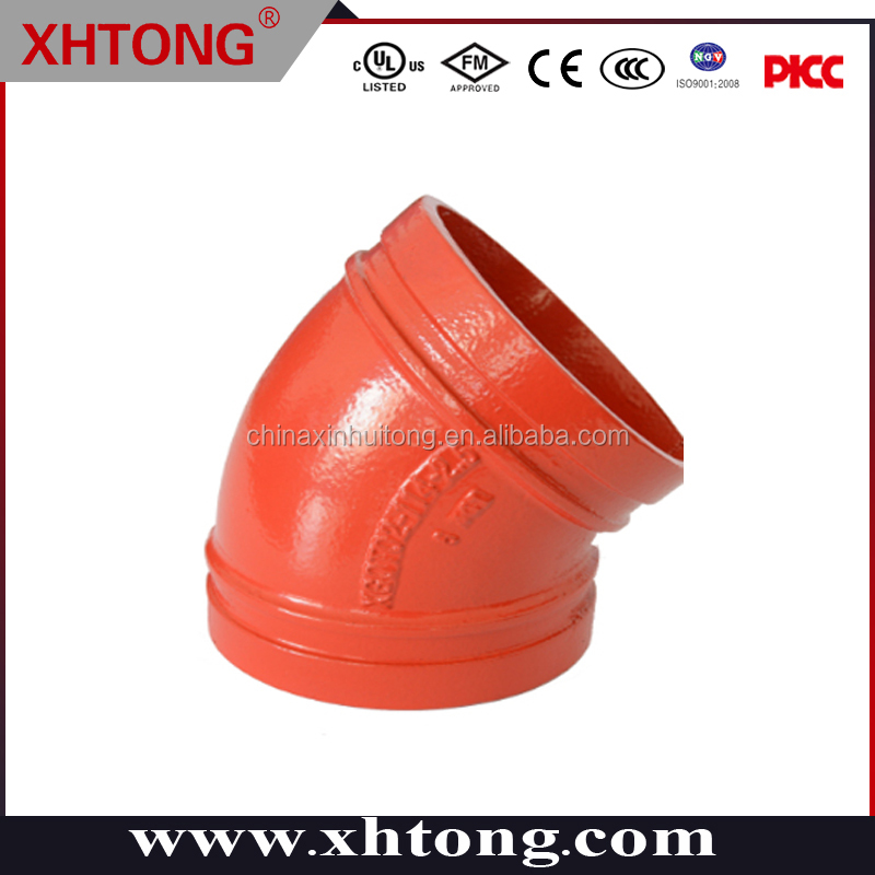 45 degree elbow grooved XHTONG green white red