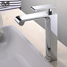 China Low Price Beautiful Fashion Polished Brass Bathroom Sink Faucets