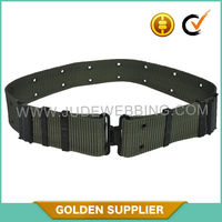 Military Style Canvas Belt With Cast Iron Hardware