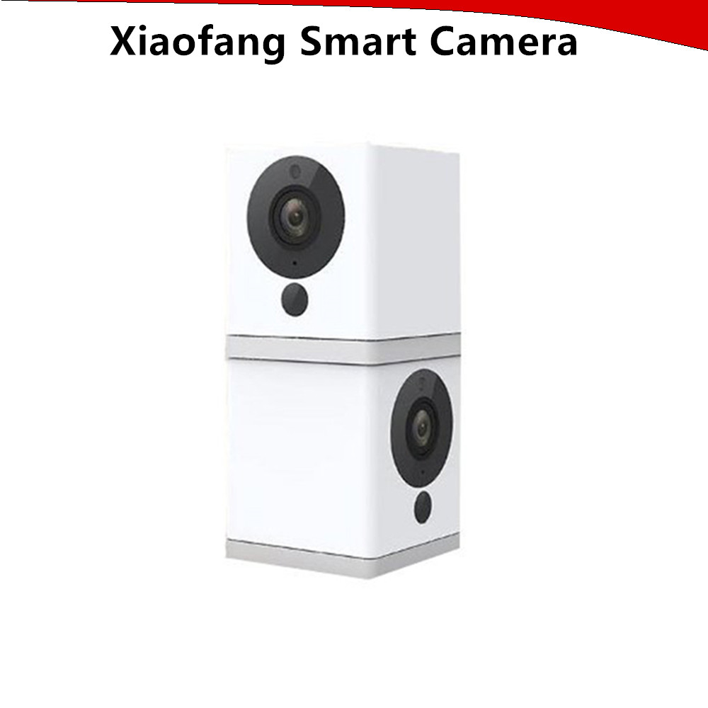 XiaoFang 110 Deg F2.0 8X Digital Zoom Night Vision WiFi IP Smart 1080P HD Camera Mini Little Small Square Camera for room