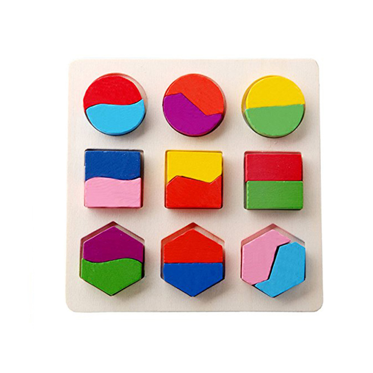 Montessori wooden brain game toys learning shape puzzle board for kids toddlers