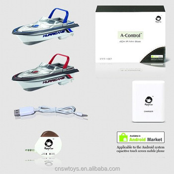 YK0804994 New technique high quality infrared android remote control boat toys ship with gyro for kids play outdoor