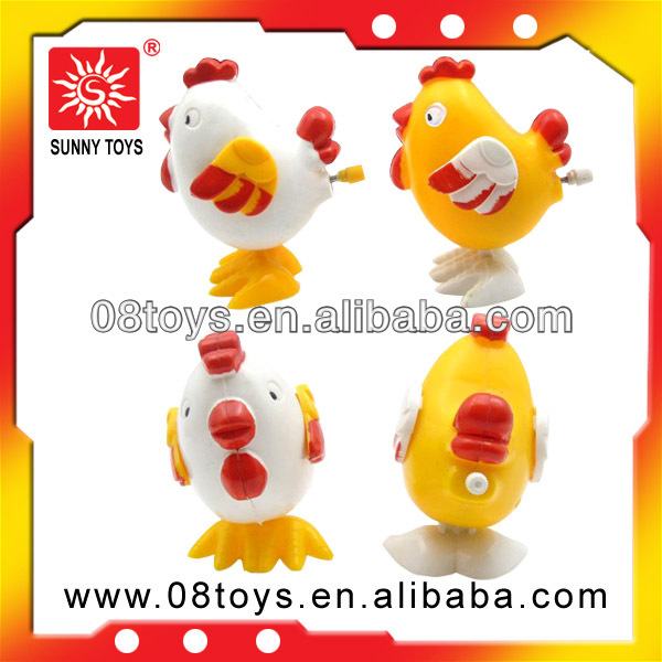 eco-friendly plastic samll funny wind up chicken toy for custom