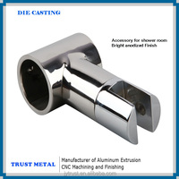 mirror polished anodized finish surface aluminum shower room handle aluminum parts