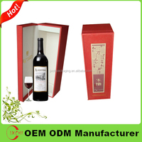 Guangzhou manufacturer custom logo paper wine carrier box