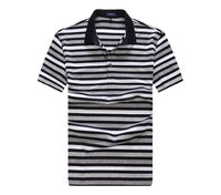 men's 100%Mecerized Cotton softtextile Striped Polo T Shirt wholesale in China