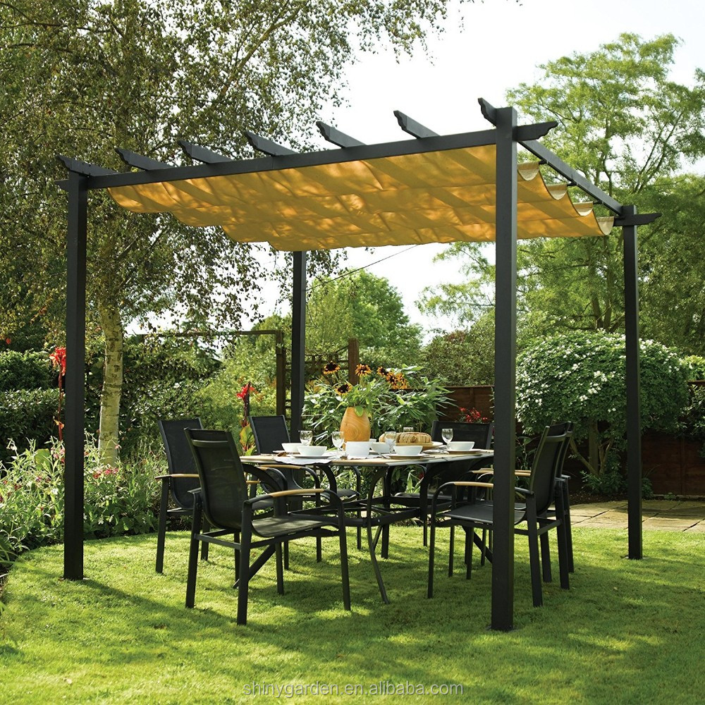 Aluminum Sun Canopy with Retractable Fabric