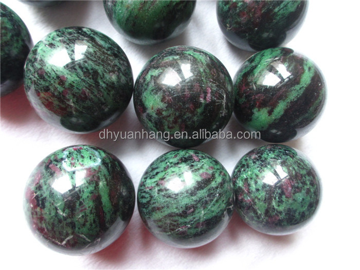 Natural ruby in zoisite stone spheres/balls