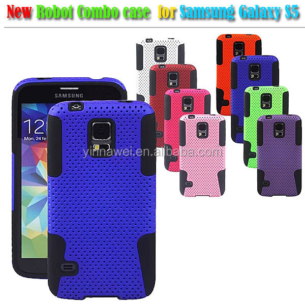 Gridding Back Silicon Anti Skid Combo Mobile phone Case for samsung galaxy s4 zoom case cover