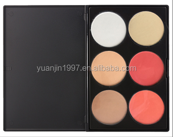 Professional Face 6 Color Makeup Palette Cosmetic Highlight Contour Powder