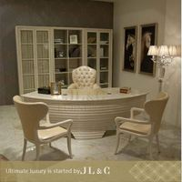AT12-09 classic executive wooden office desk with solid wood from JL&C luxury furniture(China supplier)