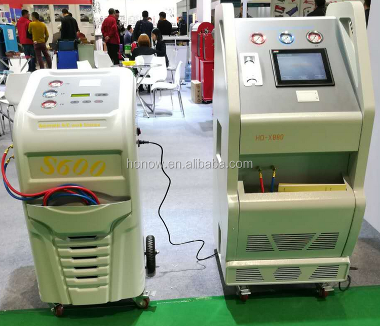 Newest A/C refrigerant Recovery&Recharge&Cleaning machine with Printer X880