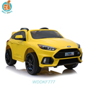 WDDKF777 Car Fan like Ride On Kids Electric Car 12V Remote Control Yellow