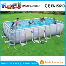 Frame rectangle pool inflatable square swimming pool