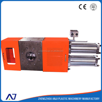 Stretched film extruder with anji continuous hydraulic double piston screen changer