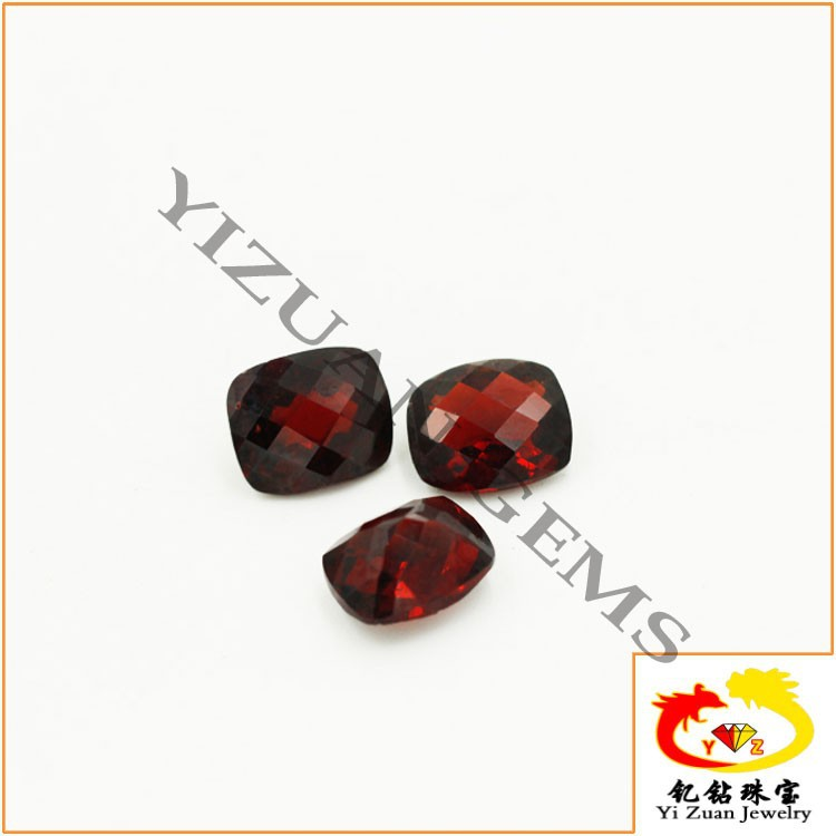 AAA High Quality Checkerboard Cut Rectangle Natural Raw Garnet Prices