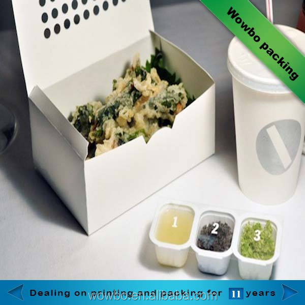 disposable folding take away white paper food lunch box