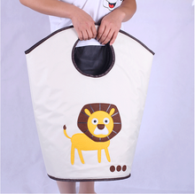 Customized design foldable canvas laundry basket with carry handles