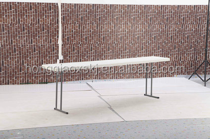 240*45*74cm long meeting desk for sale/HDPE blow mold panel/steel frame with power coating/1.5ft wide fold table