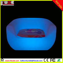 modern sofa furniture / night club plastic sofa set/ glow led sofa for corner
