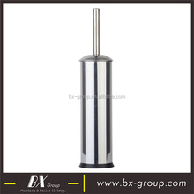 BX Group factory price stainless steel round shape toilet brush with arched lid