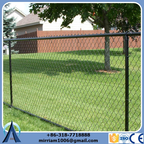 Black powder coated Spear Top Security Fence / Metal Spear Top Security Fence