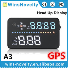Latest Factory wholesale universal auto speed monitor GPS HUD 3.5'' inch car head up display A3