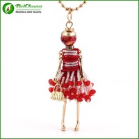 Red bead doll pendant necklace accessories for jewelry wholesale china