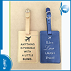 Manufacture customize logo promotional airline travel PU leather luggage tag