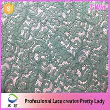 Latest net surface organic floral cording nylon lace/high quality factory supply nylon cotton lace fabric