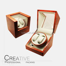 Custom 2+0 automatic motor wooden watch winder