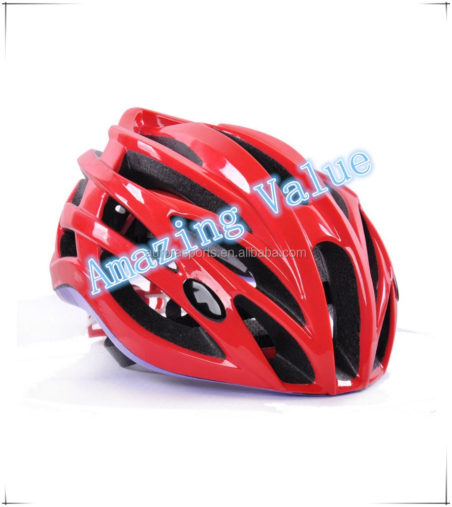 2015 New ARRIVAL Helmet S/M/L Three Sizes Road Bike Racing Helmet Bicycle Safety red Color Light Weight