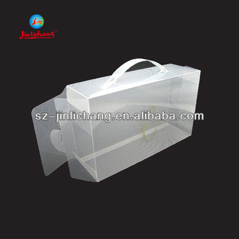 custom designed folding luxury gift clear plastic box packaging