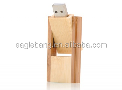 grateful swivel bamboo/wooden usb flash drive usb flash disk