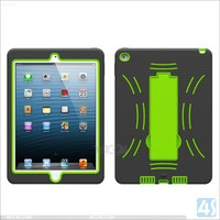 For i Pad Air Case Hybrid Armor Dual Layers Kickstand/T-Stand Display Silicone Case for iPad Air(iPad 6)