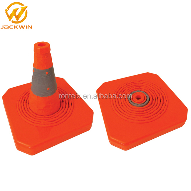 Reflective Portable ABS / PP Flexible Collapsible Traffic Safety Cone