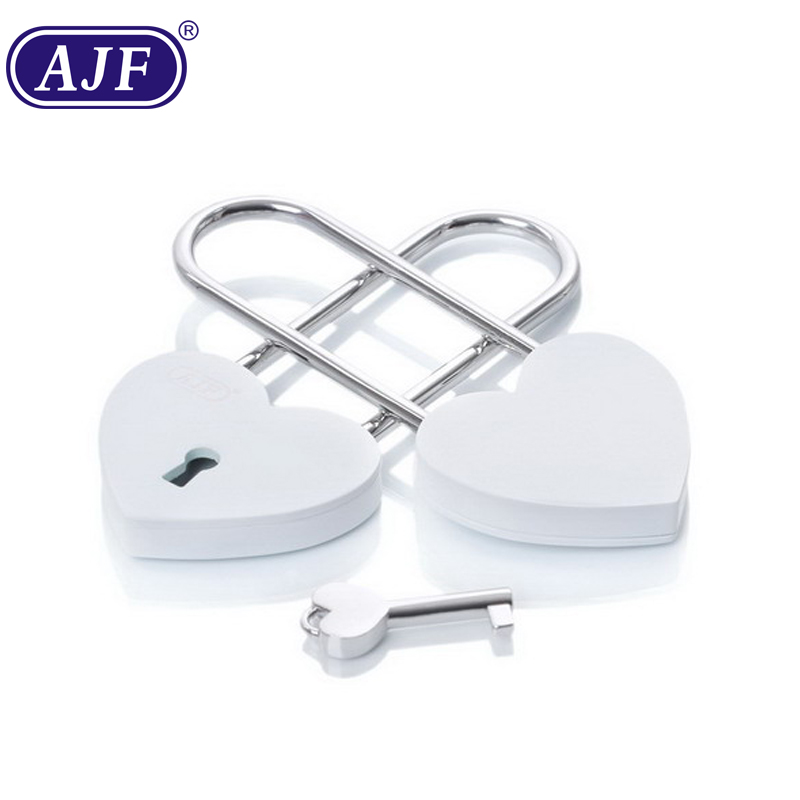 AJF TUV PASSED Newest white metal lock love heart lock with engraving names , <strong>Gift</strong>, Liebesschloss, love lock