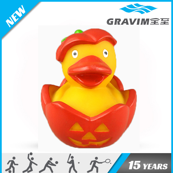 Gravim little yellow rubber ducks