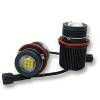 Hot sale E39 45W rgb halo ring rgb color led angel eyes for BMW E87 E60 9 crees leds double angel eyes projector lens