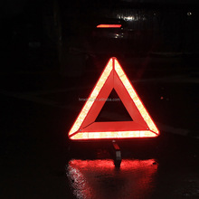 Hotsale flashing Emergency traffic car warning triangle with LED light