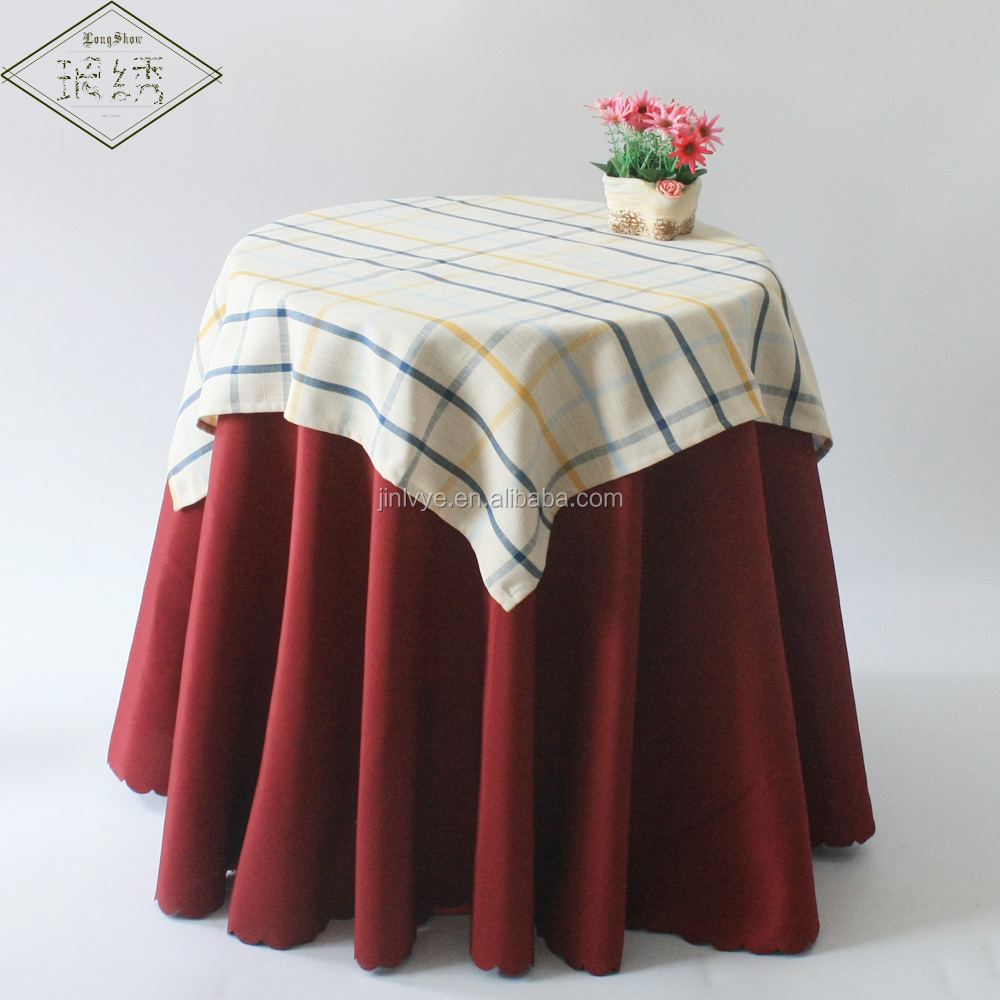 Customised Design Elegant Simple Style Plaid Table Lines