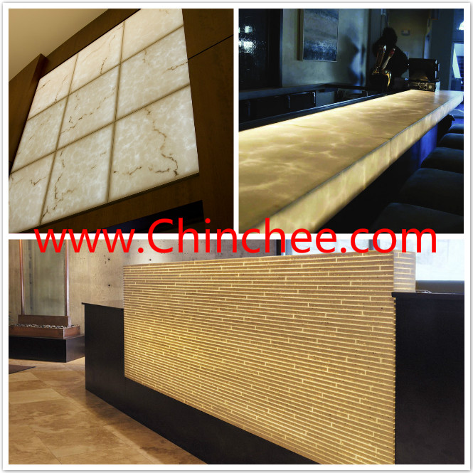 Alabaster Carving Stone Translucent Resin Shower Imitation Stone Wall Panel