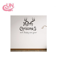 Customized Merry Christmas Window Static Cling Wall Sticker