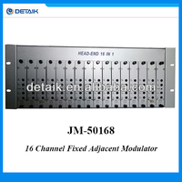 JM-50168 16 in 1 Fixed Adjacent Frequency Modulator/CATV Headend / Analog Modulator