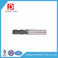 Delevel Carbide Milling Cutter 2 Flute Bull Nose End Mill Milling Cutter