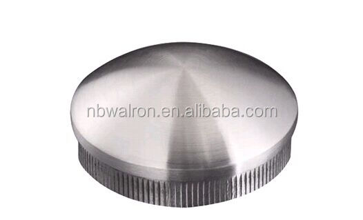 Practical Function Stainless Steel post round End Cap with satin finished for 42.4mm post